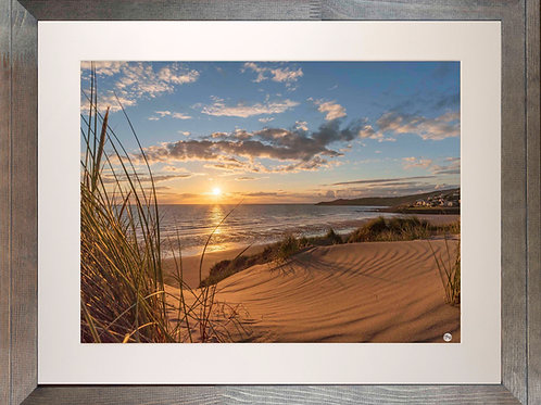 Rustic Wood Framed Picture - 400 x 500mm - Golden Patterns