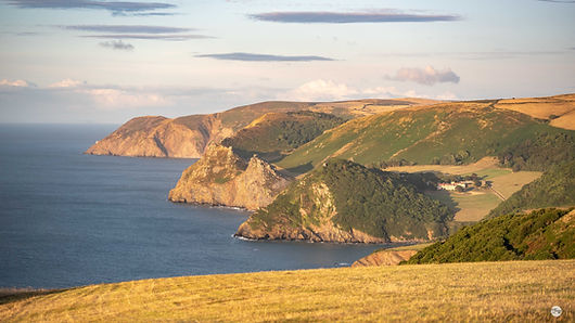 Summer View to Foreland Point over Woody
