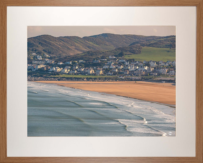 Wood Framed Picture - 400 x 500mm - Good Morning Woolacombe from Baggy