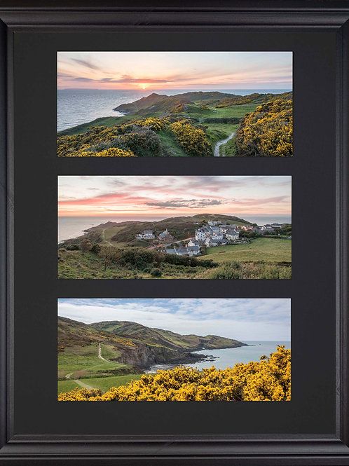 Black Edition - Triple Mounted Picture - Mortehoe 1