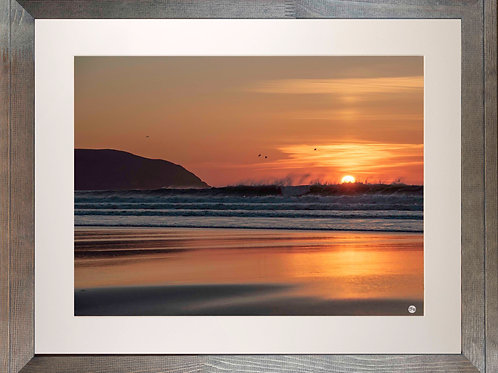 Rustic Wood Framed Picture - 400 x 500mm - Fire and Water at Baggy Point