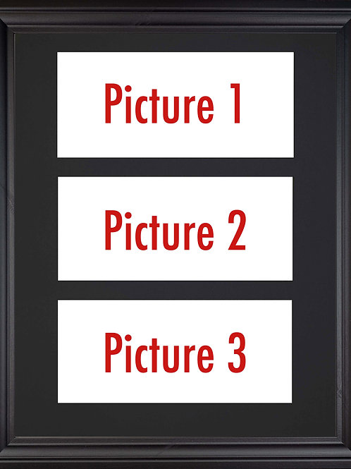 Black Edition - Triple Mounted Picture - Pick n Mix