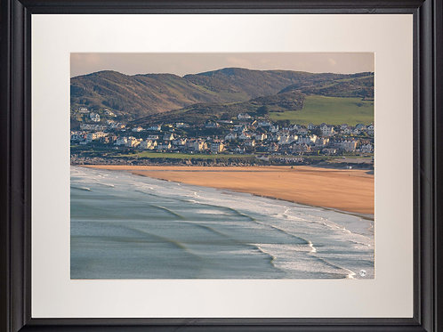 Black Framed Picture - 400 x 500mm - Good Morning Woolacombe from Baggy