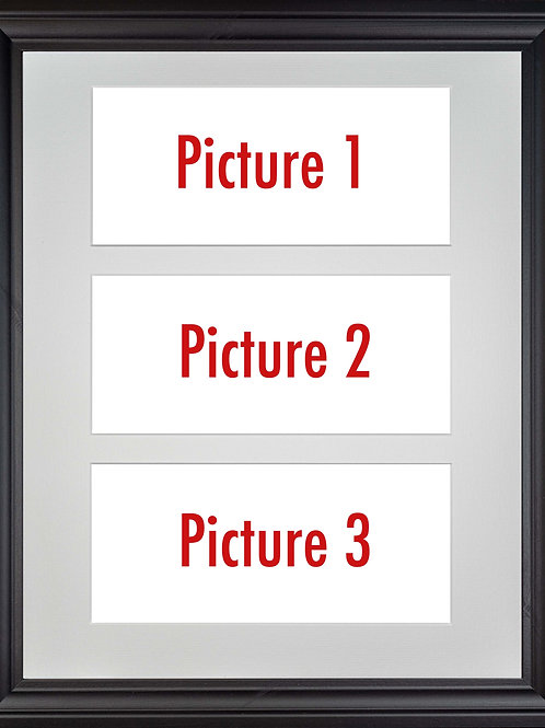 Black Framed Triple Mounted Picture - Pick n Mix