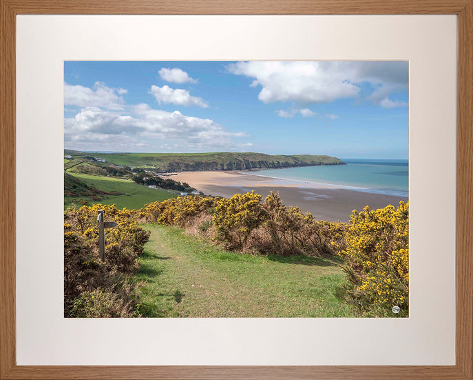Wood Framed Picture - 400 x 500mm - Woolacombe Down Junction