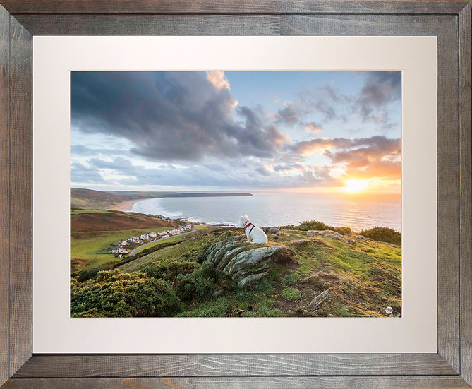 Rustic Wood Framed Picture - 400 x 500mm - Poppy Overlooking Woolaco