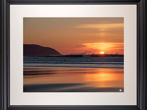 Black Framed Picture - 400 x 500mm - Fire and Water at Baggy Point