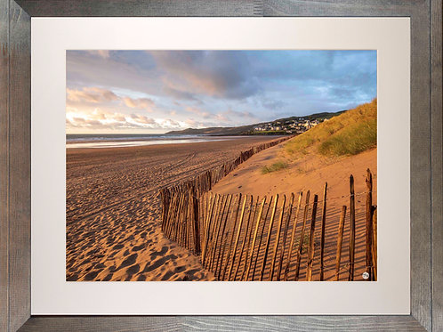 Rustic Wood Framed Picture - 400 x 500mm - Golden Fence