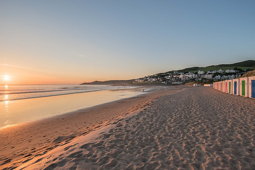 Sunset from Woolacombe Beach Huts