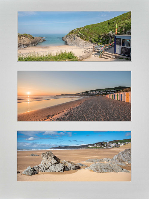 Triple Mounted Picture - Woolacombe Beaches