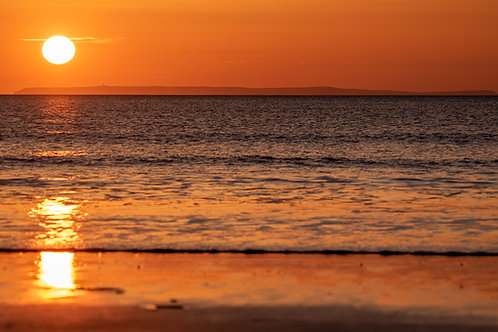 Sunset over Left Lundy from Woolacombe
