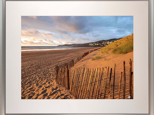 Silver Metallic Framed Picture - 400 x 500mm - Golden Fence