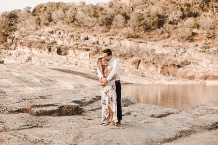 Pedernales Fall Engagement Session