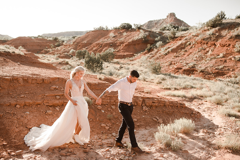 Palo Duro Canyon Elopement Red Desert Elopement