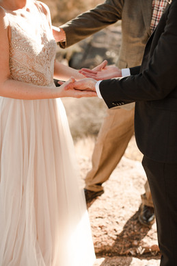 Exchanging Vows at Enchanted Rock