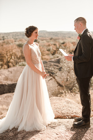 Enchanted Rock Elopement Dress