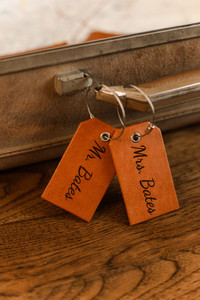 Bride and Groom Luggage Tags Leather Elopement