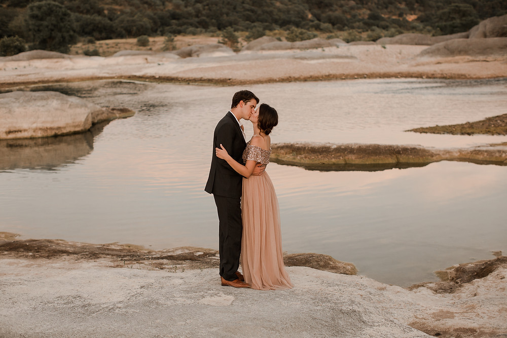 Cotton Candy Sky Elopement Waterfront Texas
