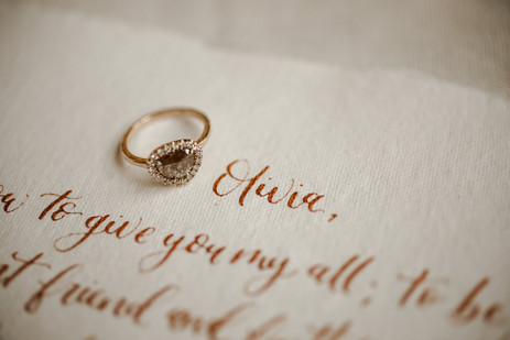 Adventure Elopement Vows Cognac Ring