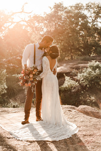 Golden Hour Elopement Enchanted Rock