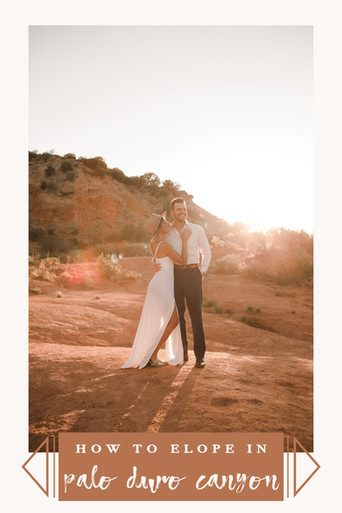 how to elope in palo duro canyon