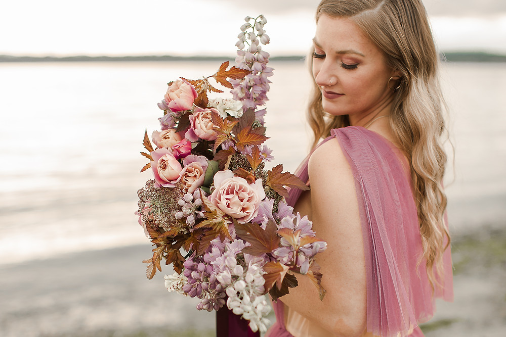 Beautiful Pink and Purple Big Boho Bouquet