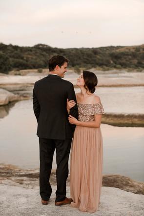 Champagne pink elopement dress