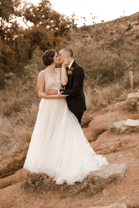 Enchanted Rock Elopement By the Lake
