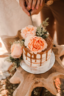 Small Caramel Elopement Cake