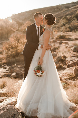 Enchanted Rock State Park Golden Hour Elopement