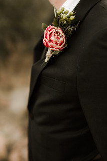Elopement Boutonnière Enchanted Rock