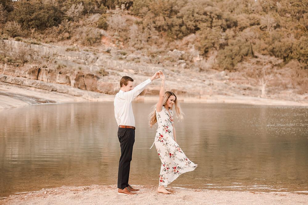 Texas Adventure Engagement Session Pedernales Falls
