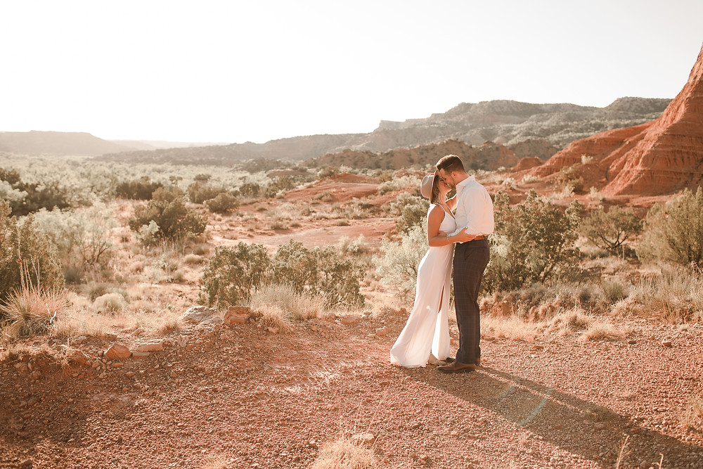 Palo Duro Canyon Elopement West Texas Desert