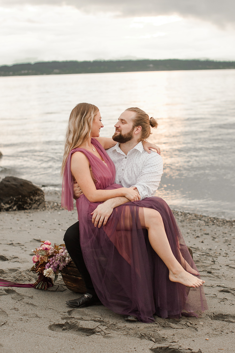 Seattle Beach Elopement at Discovery Park