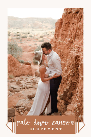 Palo Duro Canyon Summer Desert Elopement