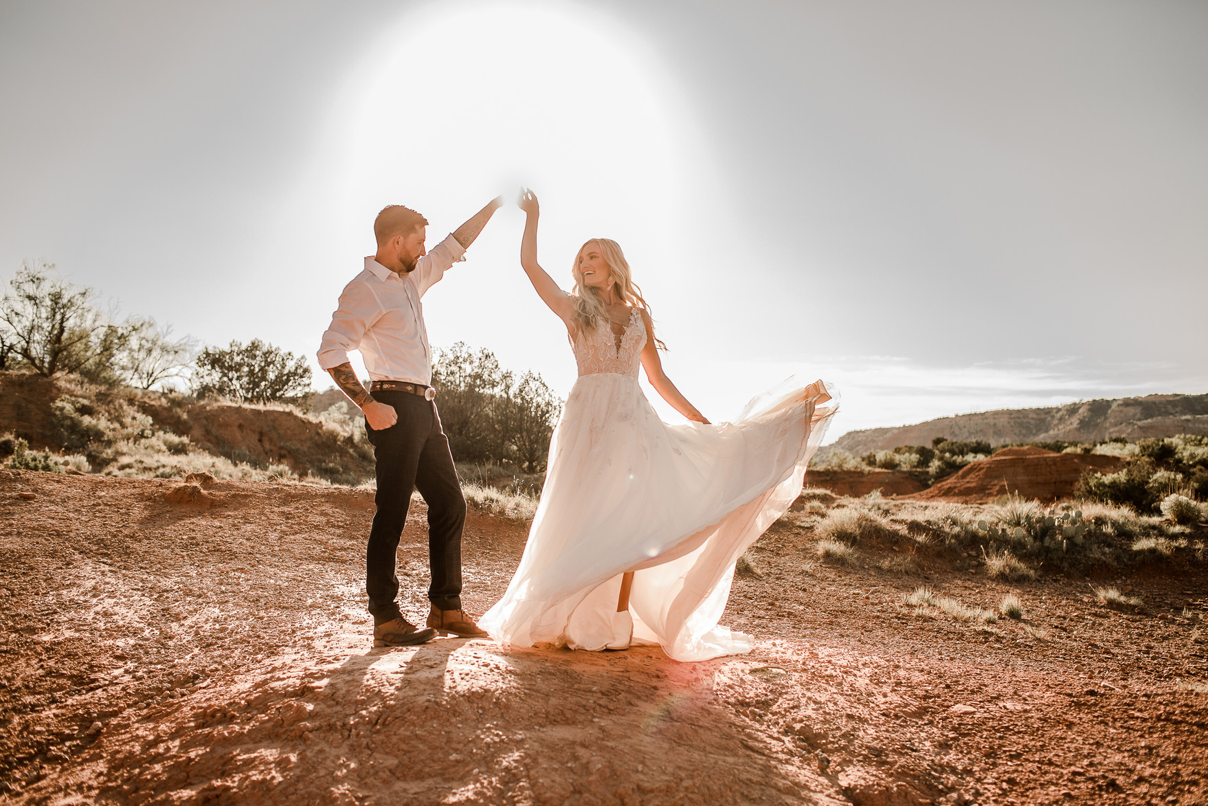 Palo Duro Canyon Elopement Colorful