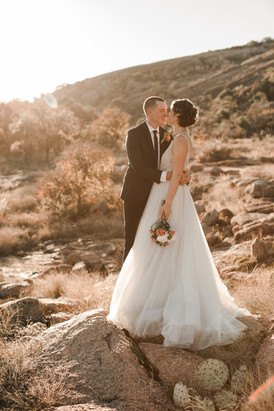 Enchanted Rock Golden Hour Elopement
