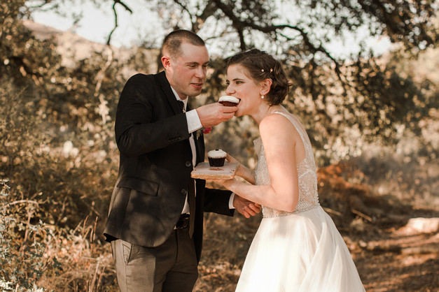 Feeding Cupcakes During Elopement