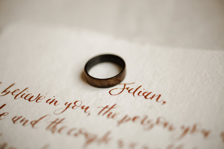 Adventure Elopement Vows Wood Ring
