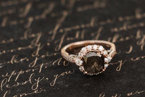 Black Engagement Ring Onyx Engagement Ri