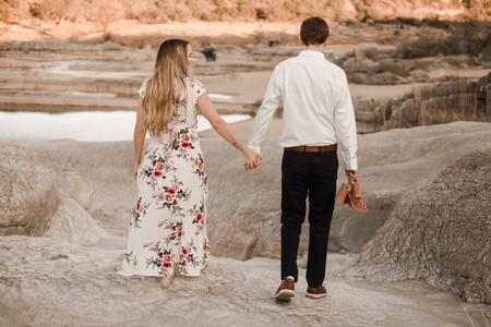 Hiking Pedernales Falls Engagement Session