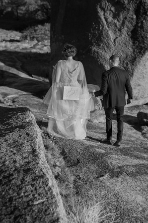 Just Married Enchanted Rock Elopement