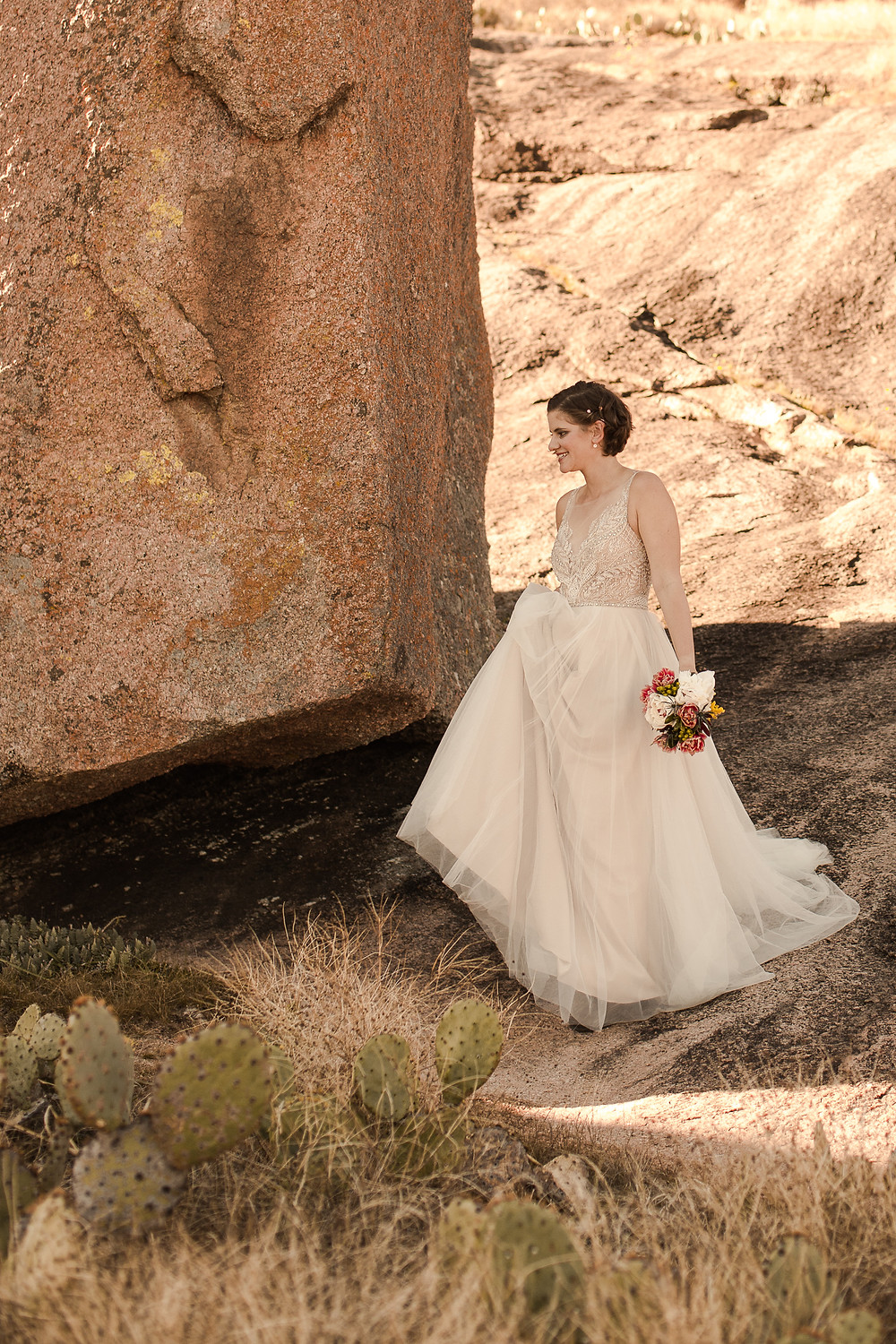 Fall Enchanted Rock Elopement at Golden Hour