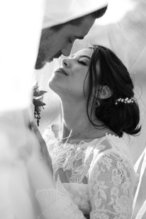 Enchanted Rock Elopement Black and White