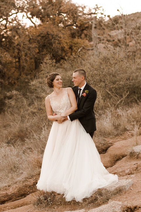 Elopement at Enchanted Rock Lake