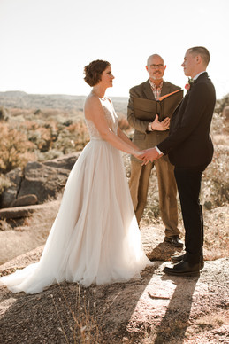 Eloping in Enchanted Rock State Park
