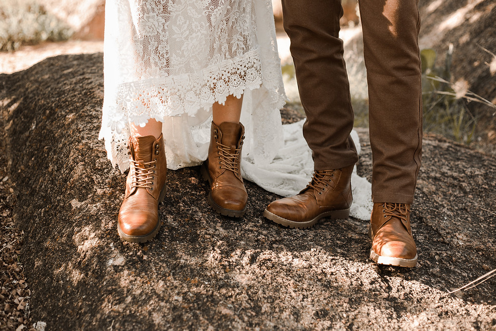 Couples Hiking Boots Elopement Hiking Shoes Adventure Elopement Shoes