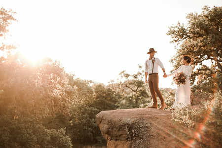Epic Adventurous Elopement in Enchanted Rock