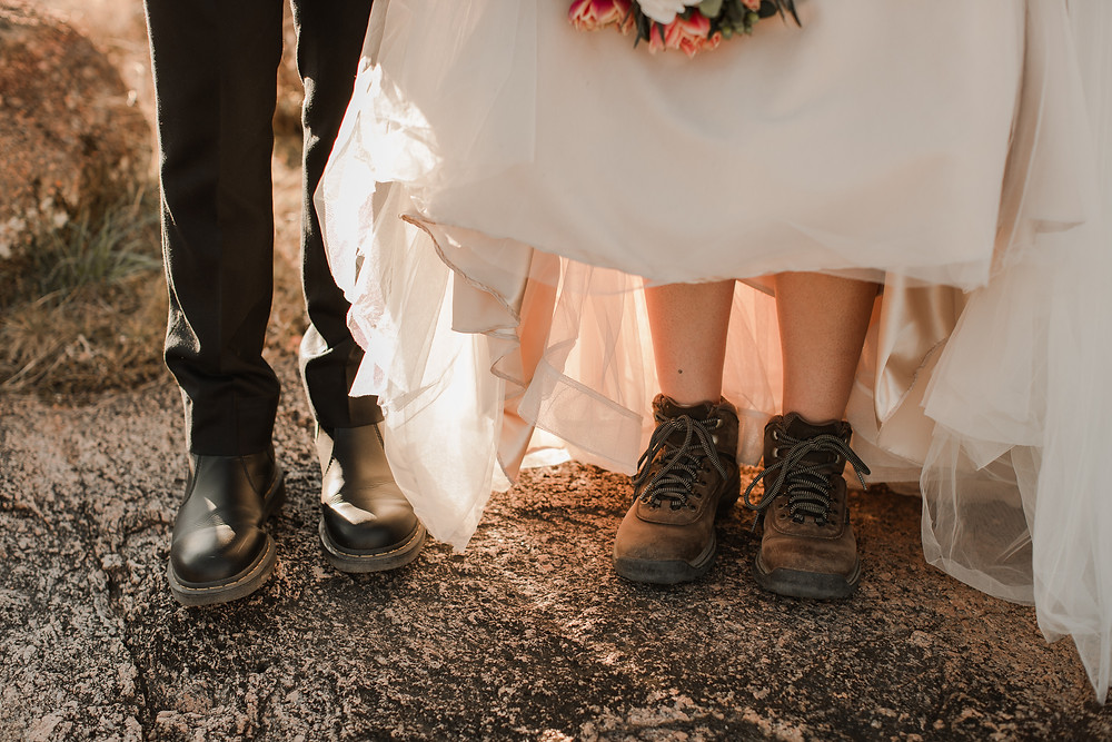 Fall Enchanted Rock Elopement at Golden Hour Elopement Shoes