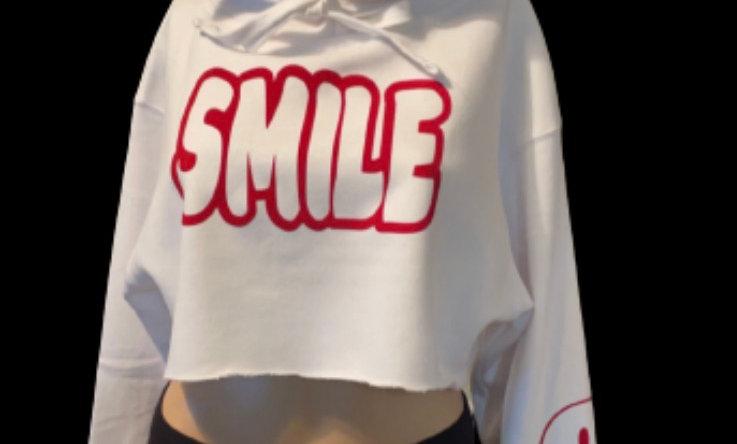 Crop SMILE HOODIE